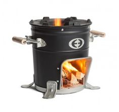 Light enough to carry around yet robust enough to support large pots and pans, the Envirofit Rocket Stove can make your campfire cooking a little easier. Its patented metal alloy combustion chamber keeps your firewood burning while sending the flames. Cooking Stove, Cooking Tools, Kid Cooking, Camping Equipment, Camping Gear, Canoe Camping, Camping Stuff, Camping Life, Kenya