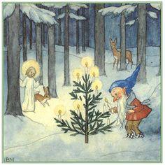 Christmas in the Woods ~ Ida Bohatta -Morpurgo