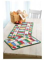 Table Charm Two Quilted Table Runner & Place Mats