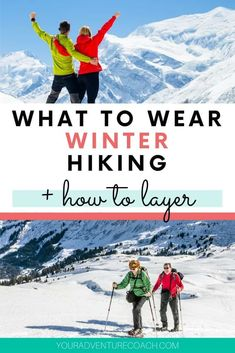 Figuring out what to wear hiking in winter can be intimidating, especially if you're just beginning. I've got you covered - check out the best clothes for winter hiking - shirts, pants, thermal layers and outer jackets. Stay warm and comfortable th Winter Hiking, Winter Camping, Camping And Hiking, Camping Ideas, Backpacking Tips, Hiking Tips, Hiking Gear, Colorado Winter, Colorado Hiking