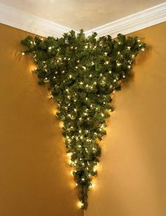 Upside down Christmas tree!  lol  But it would give you your floor space back.
