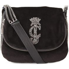 Juicy Couture Women's Chain Velour Mini Ciara Bag ($305) ❤ liked on Polyvore