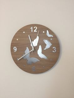 Wall clock, home decor by BlissArtStore on Etsy https://www.etsy.com/listing/569192944/wall-clock-home-decor