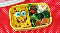 Create Eat Happy :): How to Make SpongeBob SquarePants Bento Lunch Box - Video Recipe