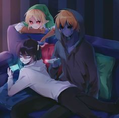 [Creepypasta] BEN Drowned, Eyeless Jack, Jeff the Killer! Jeff The Killer, Eyeless Jack, Spooky Scary, Creepy Art, Creepypasta Slenderman, Creepy Pasta Family, Creepy Monster, Laughing Jack, Demon Slayer
