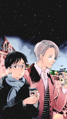 """"""" """" MERRY CHRISTMAS TO THE YURI!!! ON ICE FANDOM   ❄  ↳ Yuri!!! on Ice Trio Mobile Wallpapers [540x960] HAPPY BIRTHDAY TO VICTOR! AND SEE YOU NEXT LEVEL MY LOVELIES!"""" """""""