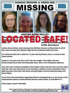 WE HAVE JUST BEEN INFORMED THAT ASHTEN HAS BEEN LOCATED SAFE!! THANKS TO ALL WHO SHARED HER FLYER!