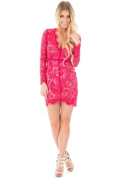 Lime Lush Boutique - Berry Scalloped Long Sleeve Lace Dress, $54.99 (http://www.limelush.com/berry-scalloped-long-sleeve-lace-dress/)
