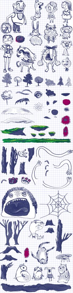 How game is made - doodle sprites from Escape Doodland.