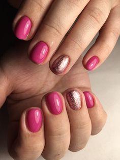 37 awe inspiring nail art designs for short nails 9 Two Color Nails, Sns Nails Colors, Bright Nails, Fun Nails, Nail Art Design Gallery, Best Nail Art Designs, Spring Nail Art, Spring Nails, Summer Nails