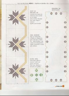 Discover thousands of images about arte facil 8 ponto reto - Nilza Helena Santiago dos Santos - Picasa Web Albums Swedish Embroidery, Basic Embroidery Stitches, Hardanger Embroidery, Ribbon Embroidery, Plastic Canvas Stitches, Swedish Weaving, Drawn Thread, Brazilian Embroidery, Needlepoint Patterns