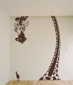 Giraffe Safari Vinyl Wall Art Sticker Decal Zoo Kids Room Floor to ceiling. $89.95, via Etsy.