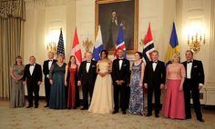 By Roberta Rampton and Jeff Mason  WASHINGTON (Reuters) - President Barack Obama toasted Sweden, Denmark, Finland, Norway and Iceland at a star-studded state dinner on Friday, lauding the nations for their global influence on civil rights, humanitarian issues and curbing climate change.  The red carpet