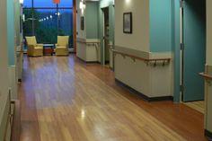 #HealthcareFlooring | InGrained Heritage Maple 11550, Columbia Cherry 11030, and HardCore Ornamental Khaki 75214 | #LuxuryVinylTile #LuxuryVinylPlank