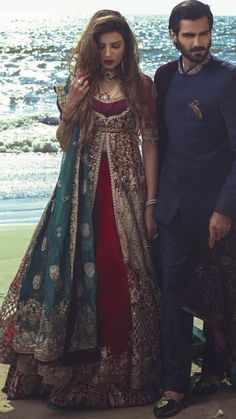 Shelving this in case Gov Yinka's daughter's wedding rumour is true. Pakistani Couture, Pakistani Wedding Dresses, Indian Wedding Outfits, Pakistani Outfits, Indian Dresses, Indian Outfits, Bridal Lehenga Collection, Indian Bridal Fashion, Indian Designer Wear