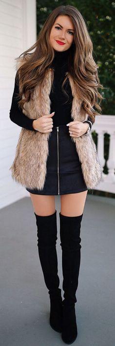 Fall outfits ideas to winter fashion Mode Outfits, Skirt Outfits, Casual Outfits, Fashion Outfits, Fashion Tips, Fashion Boots, Dress Fashion, Dress Casual, Fashion Clothes