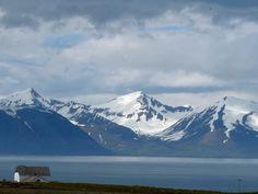 Viknafjöll mountains over Skjálfandi bay