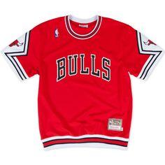 8cb88a653 1987-88 Authentic Shooting Shirt Chicago Bulls Mitchell   Ness Nostalgia Co.  Nba Shirts