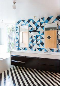 Midcentury 21 Stylish Bathroom Themes Living R Mid Century Modern Bathroom, Modern Bathrooms, Tile Bathrooms, Bathroom Vanities, Architecture Restaurant, Bathroom Furniture, Bathroom Ideas, Bath Ideas, Bathroom Designs