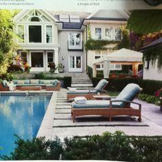 Backyard oasis, via Canadian House  + Home