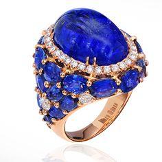 Piero Milano Sapphire and Diamond ring.
