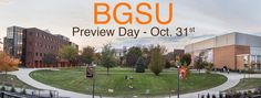 This is a Web Banner that I created for BGSU's preview day. This was for a photography project. I actually did a five part panorama.