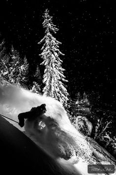 Night Powder skiing with Adrien Coirier by Tristan Shu on 500px