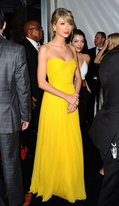 golden globes after party 1.11.15 // love her in yellow <3