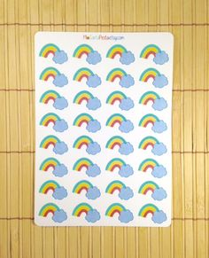 Rainbow stickers by MioCartaPesta. You can also use these to keep track of the sunset or sunrise times.