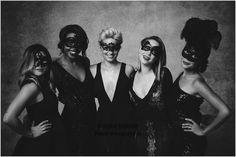 Jenna Ushkowitz, Dianna Agron & Becca Tobin at Unicef Masquerade Ball