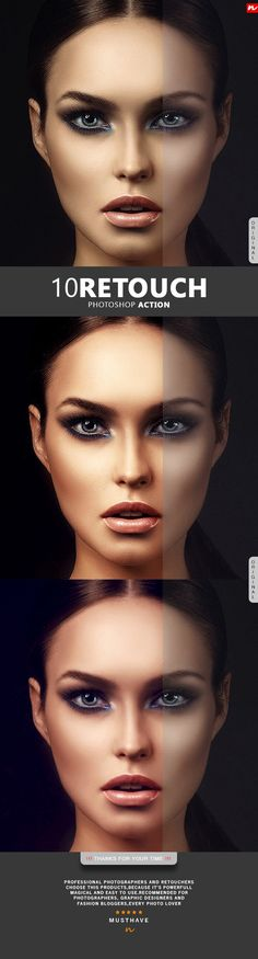 10 Retouch Photoshop Action. Download here: https://graphicriver.net/item/10-retouch-photoshop-action/17206823?ref=ksioks