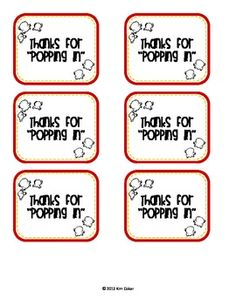 """FREE Thanks for """"Popping"""" In - Gift for Visitors open house More"""