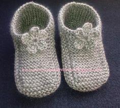Das Mãos da Teresinha: Sapatos de tricô - tam. 5 anos