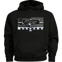 Sports Mem, Cards & Fan Shop Romantic Mens Ford Mustang Hoodie Charcoal Gray Zip Sweatshirt Screen Printed Logos Sale Good Heat Preservation