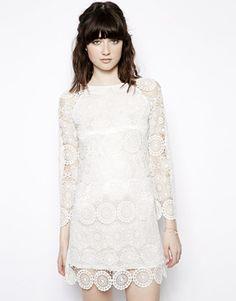Image 1 ofNishe Allover Lace Shift Dress via @Lulu Soler