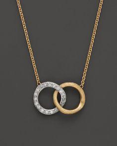 "Marco Bicego Delicati Diamond Jaipur Link Necklace, 16.5"" | Bloomingdales's"