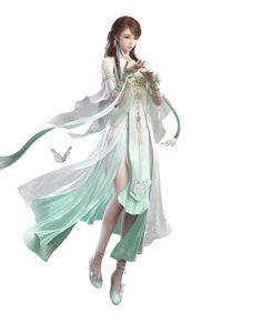 Chica Fantasy, Anime Art Fantasy, Fantasy Art Women, 3d Fantasy, Beautiful Fantasy Art, Beautiful Anime Girl, Fantasy Girl, Anime Angel Girl, Girls Anime