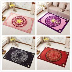 40*60cm/60*90cm/ 50*80cm cartoon Card Captor plush rug mat Magic array carpet doormat floor anti slip small Princess carpet-in Rug from Home & Garden on Aliexpress.com | Alibaba Group