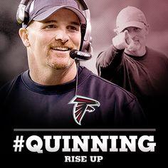 Falcons head coach Dan Quinn #Quinning #RiseUp