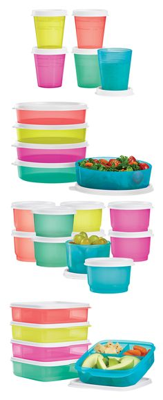 Tupper™ Minis, Medium Wonder Bowls, Snack Cups, and Lunch-It® Containers. Back  to school basics for every day of the week. Available through  July 29, 2016.