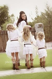 imagine layla, maya, and alex all wearing white and brown cow boy boots!!