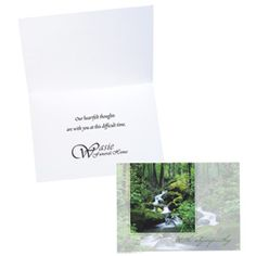 Let them know you're thinking of them with this imprinted card! Sympathy Greetings, Custom Greeting Cards, Place Card Holders