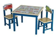 Guidecraft G86502 Moving All Around Table & Chairs Set