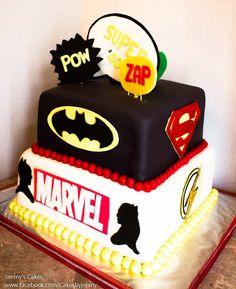 DC Comics Marvel Superheroes Birthday Cake