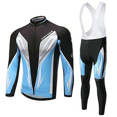 b36a636bc XINTOWN blue Cycling Long Sleeve sets Jerseys Winter mens Cycling bicycle  Jersey and mountain bike jacket