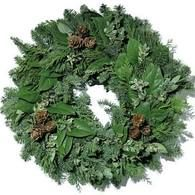 Fresh Evergreen Traditional Wreath (Available Nov 1-Dec 22)