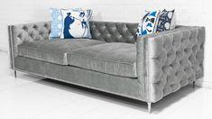 Inside Out New Deep Sofa in Bristol Elephant Grey Velvet by ModShop