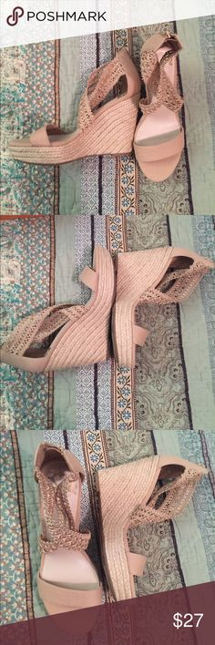 NEVER WORN Fergalicious by Fergie Shoes Size 9 NEVER WORN Cream wedges in a size 9 by Fergie Fergalicious Shoes Wedges
