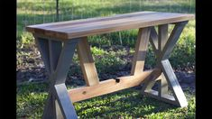 Woodworking Plans | DIY Cedar Desk Build With Bottom Supports  @buildsomething #workshop #woodworking #diy