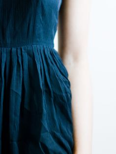 Beautiful blue dress.